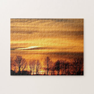 Treeline in Sunset Jigsaw Puzzle
