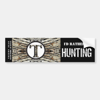 Treemo Gear Camo Personalized Bumper Sticker- Hunt Bumper Sticker