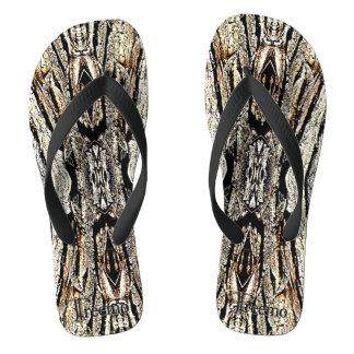 Treemo Gear Camo Wood Pattern Flip Flops Thongs