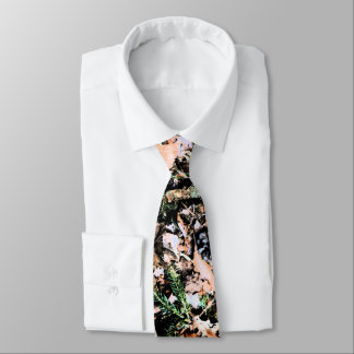 Treemo Gear Leaves & Cones Camo Men's Necktie