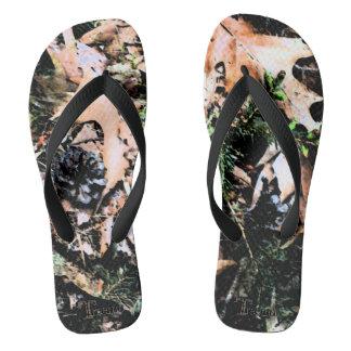Treemo Gear Leaves & Cones Camouflage Flip Flops Thongs