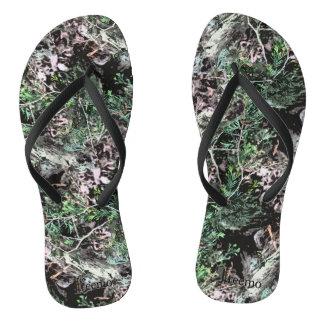 Treemo Gear Skinny Pine Nature Camo Flip Flops Thongs