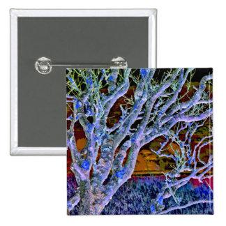 TREES 15 CM SQUARE BADGE