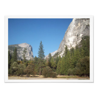 """""""Trees Amidst Mountains"""" Yosemite Valley Poster"""