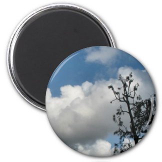 Trees and Clouds Fridge Magnet