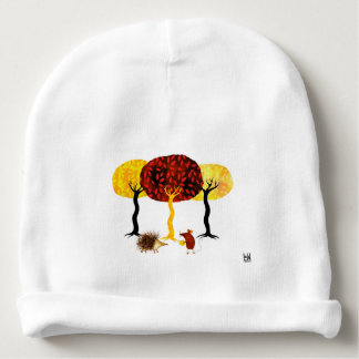 Trees and friends baby beanie
