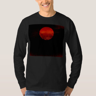 Trees and Full Moon Night - Vintage T-shirt
