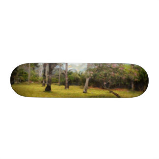 Trees and grass 18.1 cm old school skateboard deck