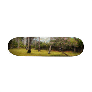 Trees and grass skate deck
