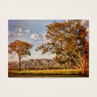 Trees and hills in the country side business card