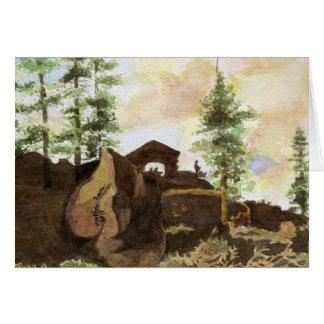 Trees and Rocks, Yosemite National Park Greeting Card