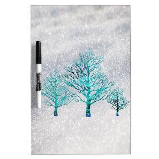 Trees and Snow Crystals Dry-Erase Whiteboards