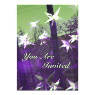 Trees and Stars Abstract 13 Cm X 18 Cm Invitation Card