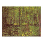 Trees and Undergrowth by Vincent van Gogh Personalised Invite