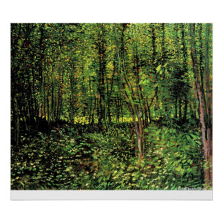 Trees and Undergrowth by Vincent van Gogh Poster