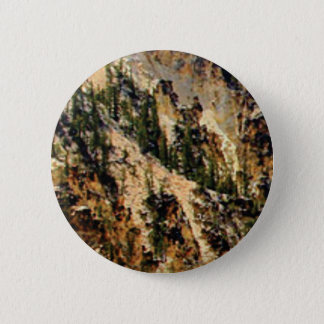 trees and yellow slope 6 cm round badge