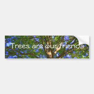 Trees are our friends bumper sticker