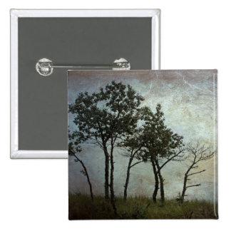 Trees at Dusk 15 Cm Square Badge