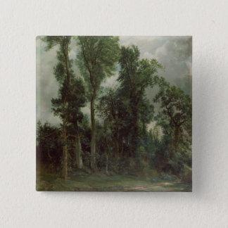 Trees at Hampstead 15 Cm Square Badge