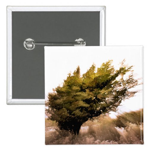 TREES PINBACK BUTTONS