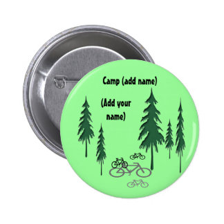trees, bicycles, (Add yourname), Camp (add name) Buttons