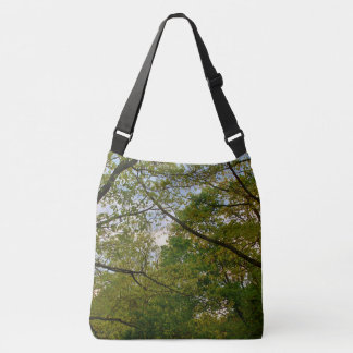 Trees, Branches and Green Leaves Crossbody Bag