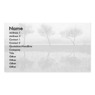 Trees by the lake Double-Sided standard business cards (Pack of 100)