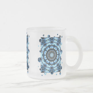 TREES FROSTED GLASS COFFEE MUG
