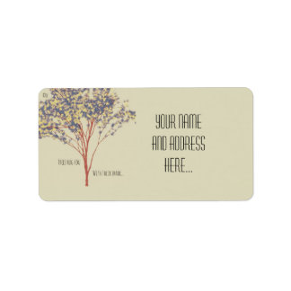 """Trees hug you with their shade"" Tree Art Quote Address Label"