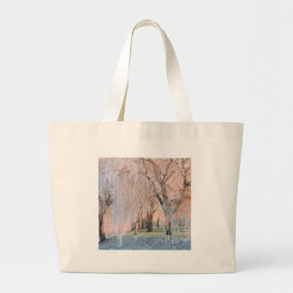 Trees Ice Covered Willow Tote Bags