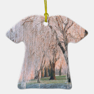 Trees Ice Covered Willow Christmas Ornament