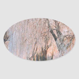 Trees Ice Covered Willow Stickers
