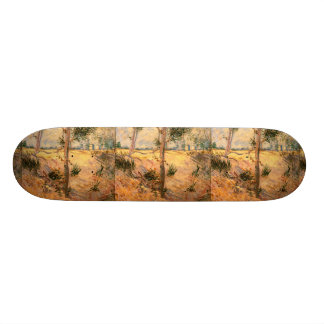 Trees in a Field on a Sunny Day Skate Board