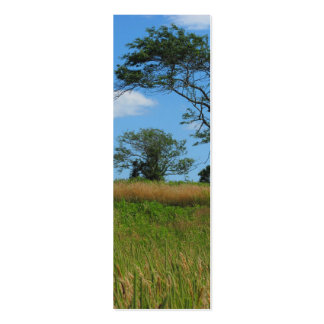 Trees in a Wheat Field Business Card Templates