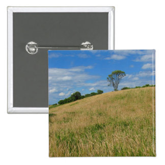 Trees in a Wheat Field Pinback Button