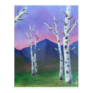 Trees in front of Mountains II Postcard