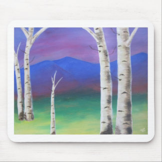 Trees in front of mountians at Sunset Mouse Pad