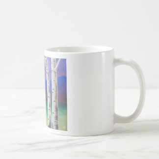 Trees in front of mountians at Sunset Mugs