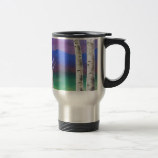 Trees in front of mountians at Sunset Coffee Mug