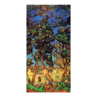 Trees in Garden of Saint-Paul Hospital by van Gogh Picture Card