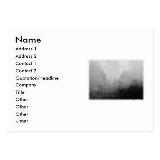 Trees in Mist. Black and White. Pack Of Chubby Business Cards