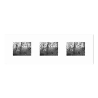 Trees in Mist. Black and White. Pack Of Skinny Business Cards