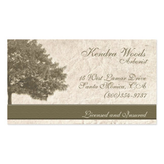 Trees in Tan Paper Pack Of Standard Business Cards
