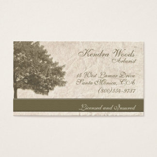 Trees in Tan Paper Business Card