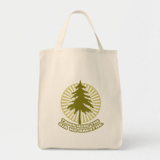 Trees Make Air Accent Tote Bag