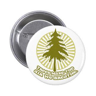 Trees Make Air Round Button