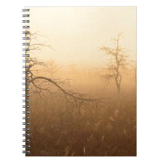 Trees Morning Dew Everglades Florida Spiral Notebook