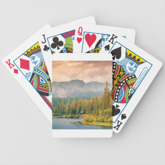 trees mountain and stream bicycle playing cards