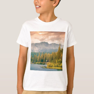 trees mountain and stream T-Shirt