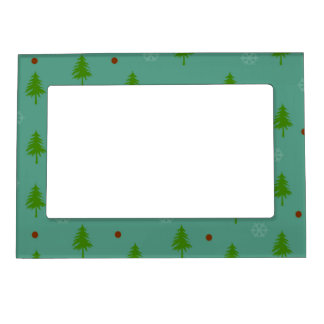 Trees n Snowflakes Magnetic Picture Frame